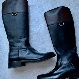 Jayden D Ring Black-Brown Classic Equestrian Boots